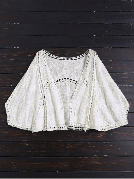shops Open Front Batwing Cover Up - OFF-WHITE ONE SIZE