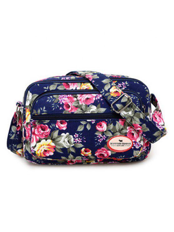 حقيبة كروسبودي من القماش مزينة بأزهار - سيريلين