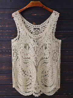 Golden Thread Cover Up For Swimwears - Golden