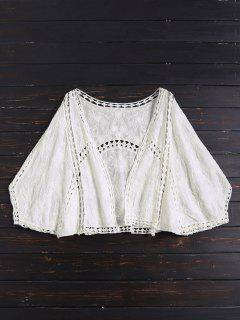 Open Front Batwing Cover Up - Off-white