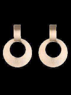 Boucles D'oreilles En Forme De Cercle En Alliage A Style Vintage - Or