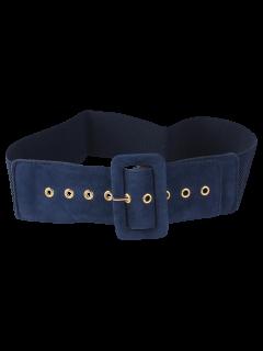 Cinturón Ancho Elástico Hebilla - Azul