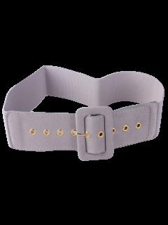Cinturón Ancho Elástico Hebilla - Gris