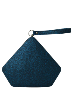 Glitter Geometric Sequin Evening Bag - Deep Blue