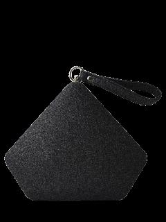 Glitter Geometric Sequin Evening Bag - Black