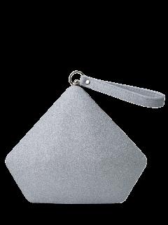 Sac De Soirée Pailleté Brillant En Forme Géométrique - Argent