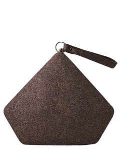 Glitter Geometric Sequin Evening Bag - Coffee