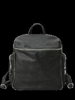 Zip Aroud Faux Leather Backpack - Atlantis