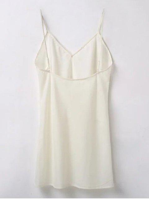 new Embroidered Smock Dress With Slip Dress - OFF WHITE M Mobile
