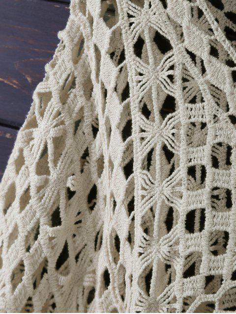 ladies Crochet Dolman Top - BEIGE ONE SIZE Mobile