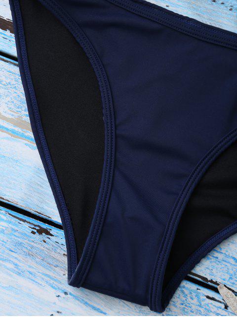 Maillots de bain color block avec découpes - Bleu XL Mobile