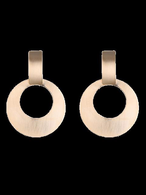 Boucles d'oreilles en forme de cercle en alliage a style vintage - Or  Mobile