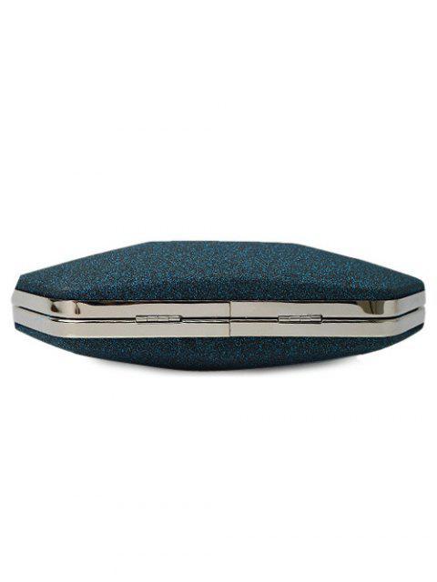 women's Glitter Geometric Sequin Evening Bag - DEEP BLUE  Mobile