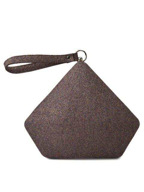 lady Glitter Geometric Sequin Evening Bag - COFFEE  Mobile