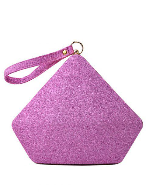 best Glitter Geometric Sequin Evening Bag - PINK  Mobile