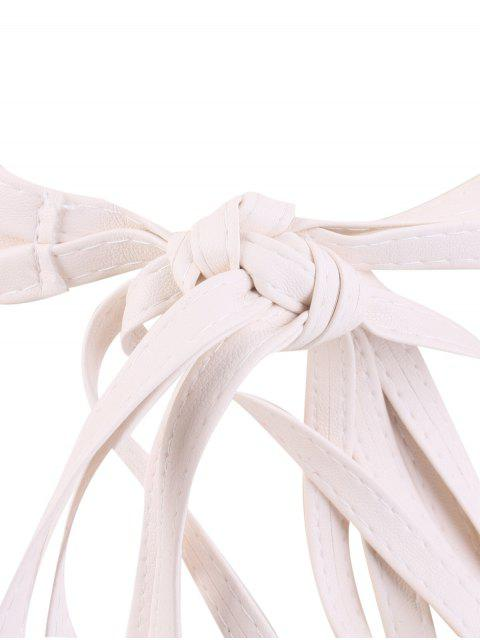 new Tassel Long Tail Lace Up Wide Belt - WHITE  Mobile