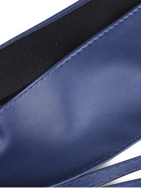 best Tassel Long Tail Lace Up Wide Belt - CADETBLUE  Mobile