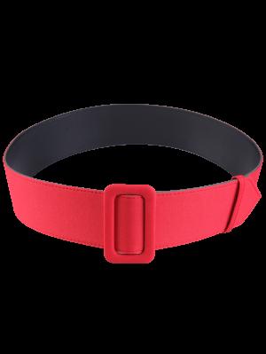 Cinturón De Cuero Tejido Del Panel De La PU - Rojo