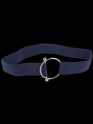 Cinturón Elástico De Hebilla Metálica Redonda - Azul