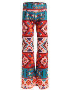 Géométriques Imprimer Larges Pantalon - 2xl