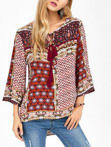 Buy Retro Print High Low Tee - COLORMIX S