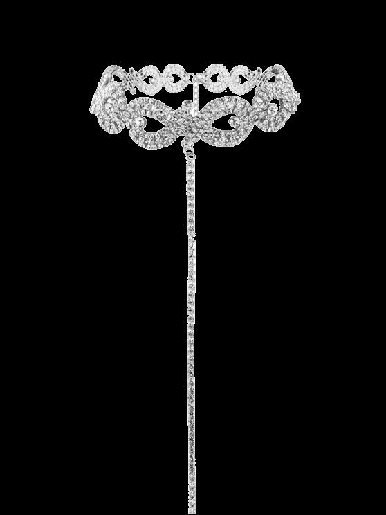 حجر الراين سبيكة اللانهائي قلادة - فضة