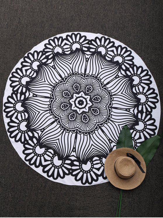 womens Mandala 3D Printed Beach Throw - BLACK ONE SIZE(FIT SIZE XS TO M)