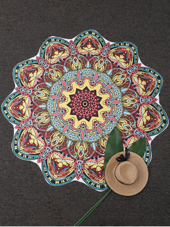 new Mandala Tapestry Printed Beach Throw - YELLOW