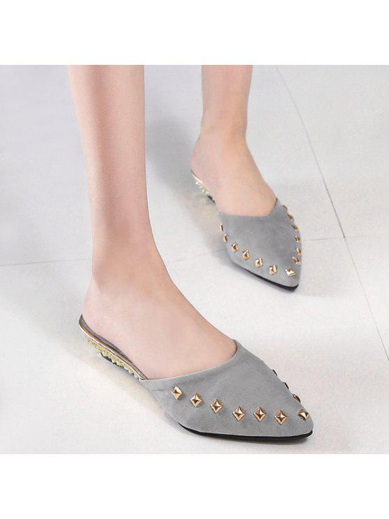 Rivets métalliques Pointu Chaussons Toe - gris 38