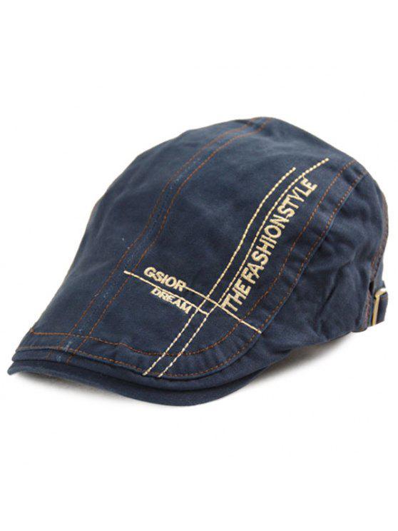 رسائل عبر التطريز الدنيم قبعة المستأجر قبعة - ازرق غامق مقاس واحد