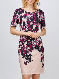 Mini Floral Robe - Rose Clair 2xl