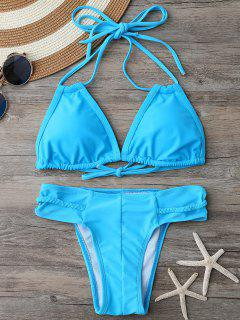 Braided Padded Bathing Suit - Lake Blue M