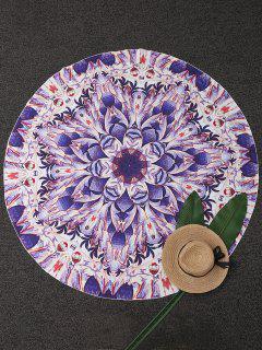 Circle Printed Beach Throw - Purple