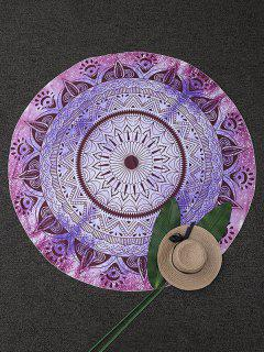 Circle Geometric Beach Throw - Purple