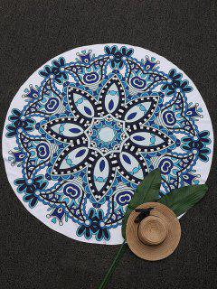 Round Madala Paisley Beach Throw - Blue