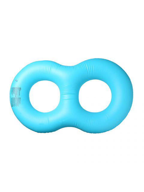 lady Inflatable Double Ring Float - LAKE BLUE  Mobile