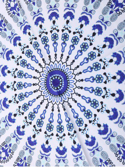 lady Geometric Circle Paisley Beach Throw - BLUE ONE SIZE Mobile