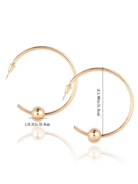 Boucles d'oreilles cercle agrémentée de perles - Or  Mobile