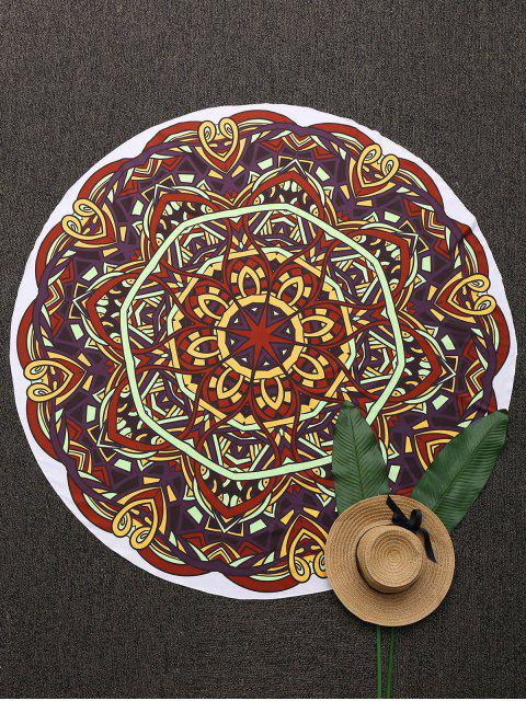 women's 3D Abstract Print Mandala Beach Blanket - COLORMIX ONE SIZE(FIT SIZE XS TO M) Mobile