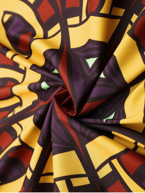 Couverture de plage imprimé Mandala 3D abstrait - Multicolore Taille Unique(S'adap Mobile