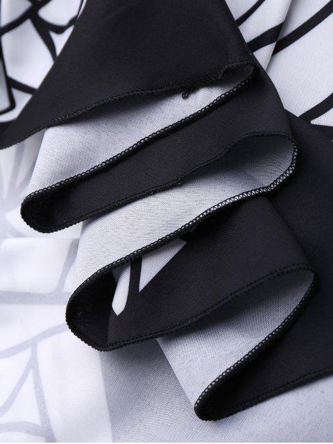 Couverture de plage ronde convertible imprimée 3D - Noir Taille Unique(S'adap Mobile
