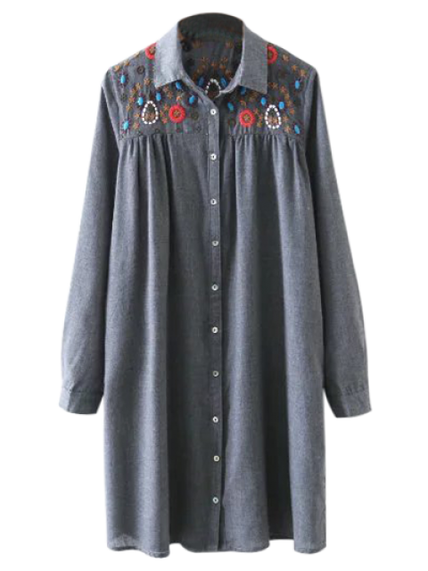 Robe T-shirt bordée plissée - gris S Mobile