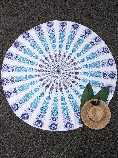Throw geométrica Círculo Paisley Beach - Azul Única Talla Mobile