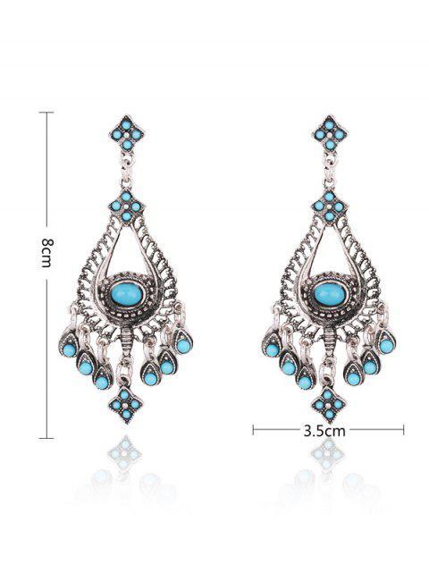 Boucles d'oreilles agrémentées de fausses pierres en lust - Bleu  Mobile