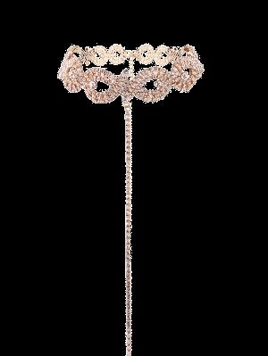 Rhinestone De La Aleación Del Collar Infinito - Dorado