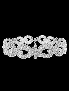 Infinity Collar Gargantilla Rhinestoned - Plata