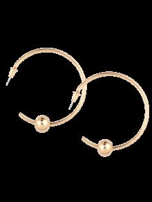 Beads Embellished Cuff Earrings - Golden