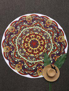 Couverture De Plage Imprimé Mandala 3D Abstrait
