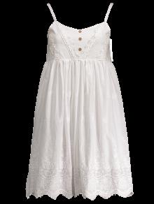 Embroidered Smock Babydoll Dress WHITE: Casual Dresses ONE SIZE ...