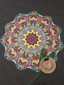 Mandala Tapestry Printed Beach Throw - Yellow